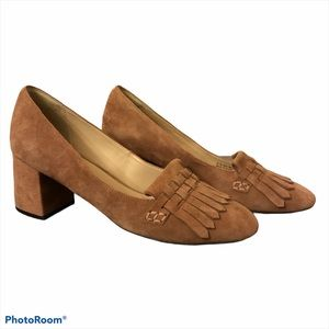 Cole Haan Mabel Dusty Pink Suede Fringe He…